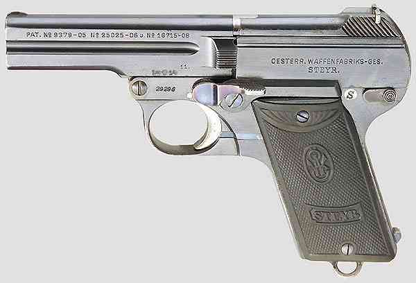 Steyr Pieper Model 1908 Pistol Austro-Hungarian